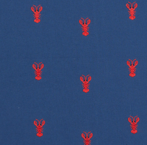 Lobster Embroidery Fabric