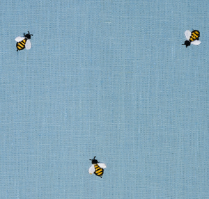 Honey Bee Embroidered Fabric