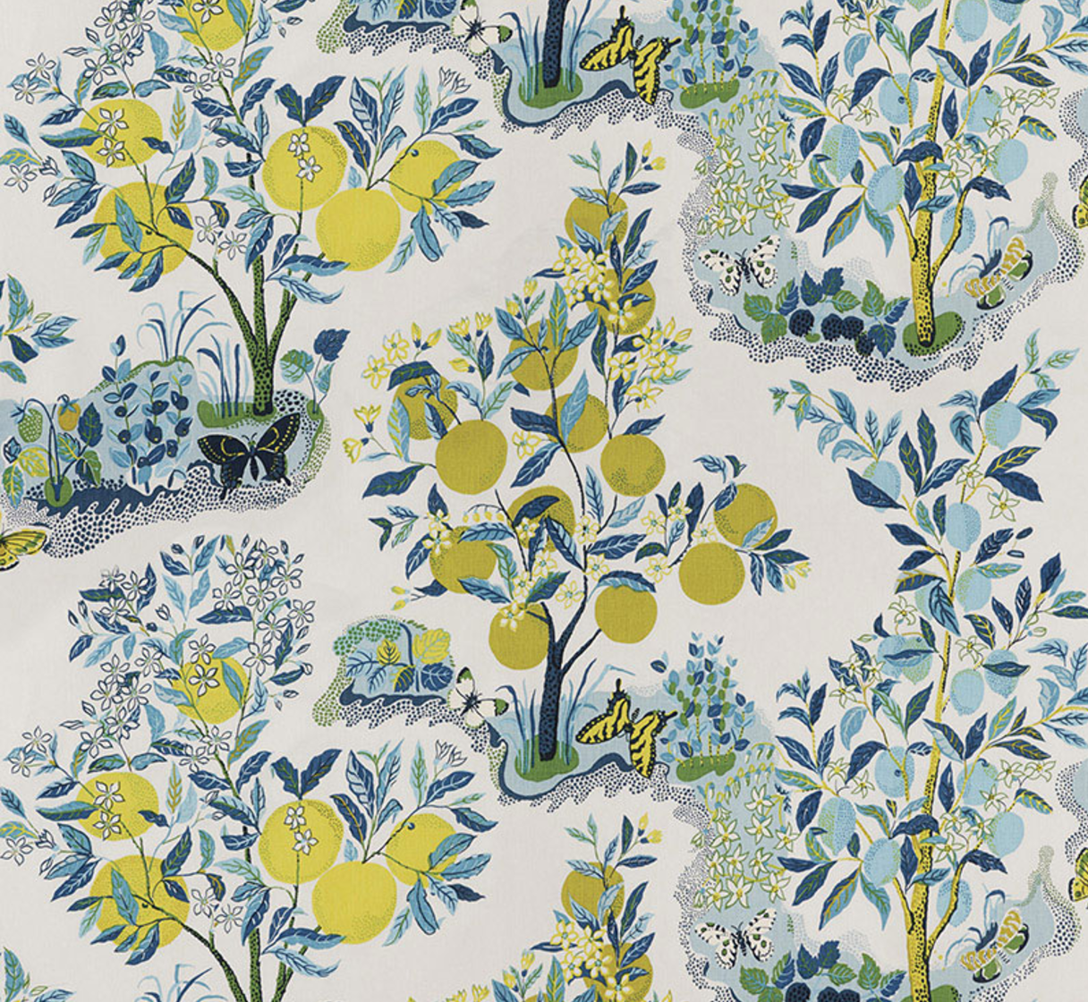Citrus Garden Indoor/Outdoor Fabric - Urban American Dry Goods Co.