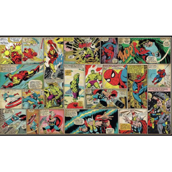 Marvel Comic Strip Mural