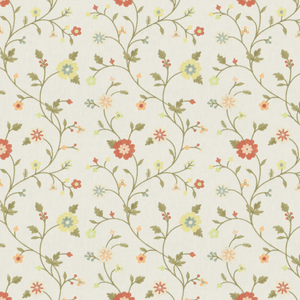 Epistle Floral Coral Fabric