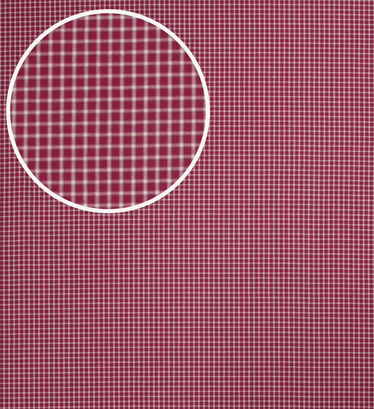 Small Checked Square Pattern Design Upholstery Fabric Pink Black Colour