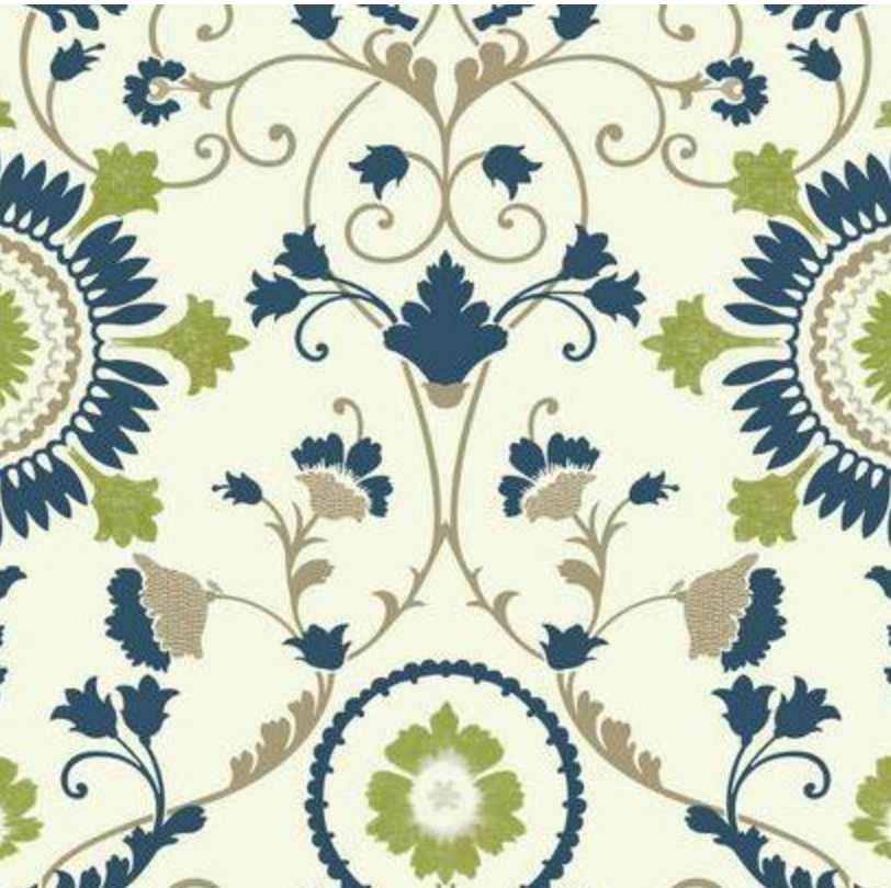 Enamel Ornamental Wallpaper