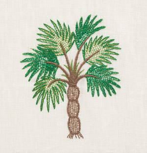 Palmetto Beach Embroidered  Fabric