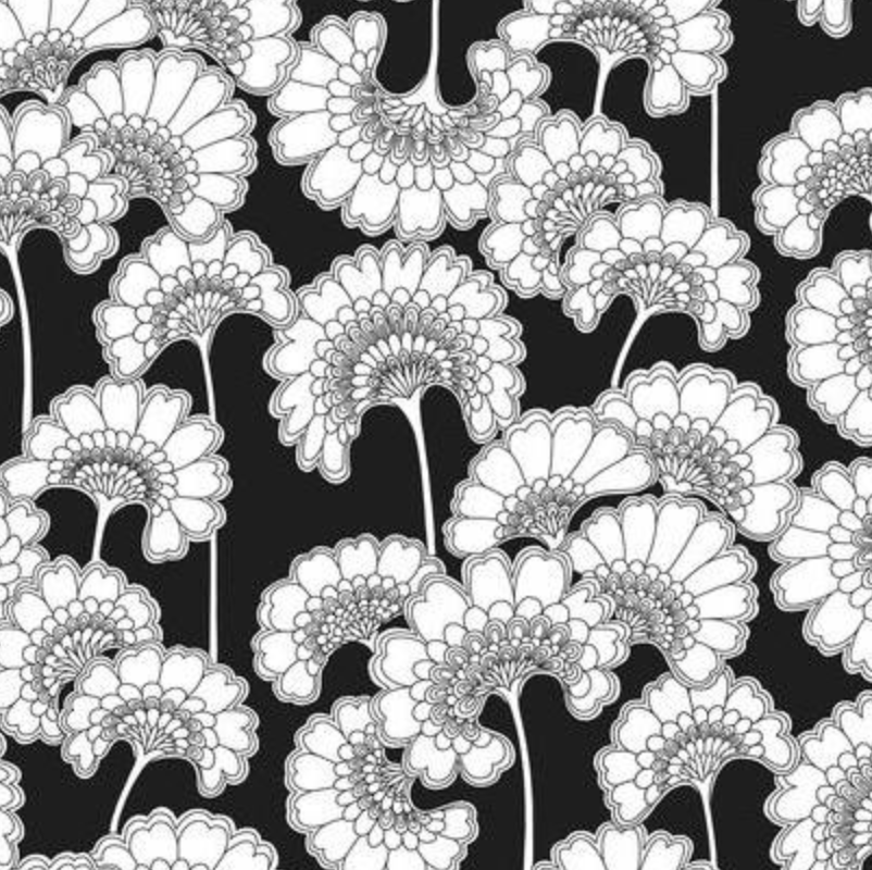 Japanese Floral Wallpaper