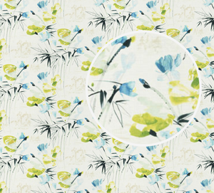 Floral Pond Fabric