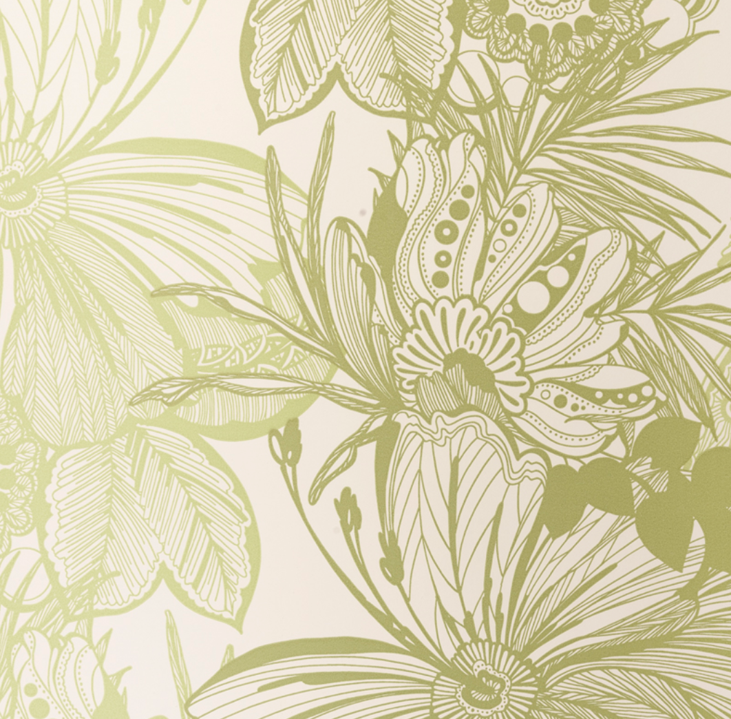 Tropical Floral Toile Wallpaper Urban American Dry Goods Co