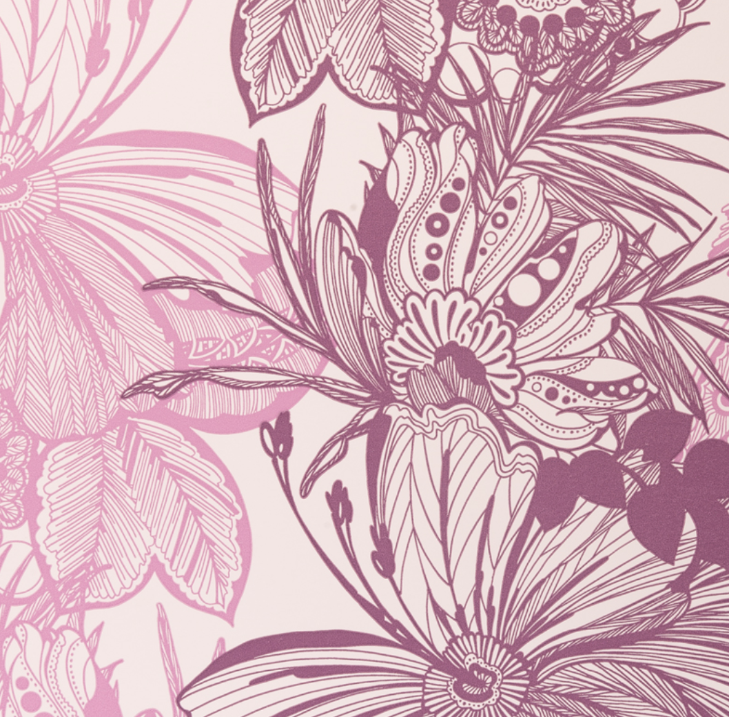 Tropical Floral Toile Wallpaper