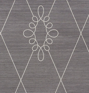 Sylvie Embroidered Sisal Wallpaper