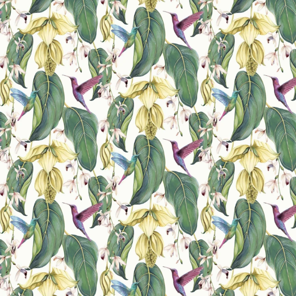 Trailing Orchid Indoor/Outdoor Fabric