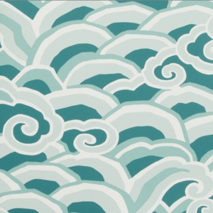 Deco Waves Wallpaper
