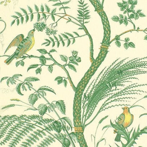 Birds and Thistle Wallpaper