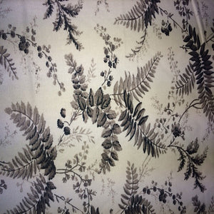 Black and White Floral Toile / 3 Yard Piece