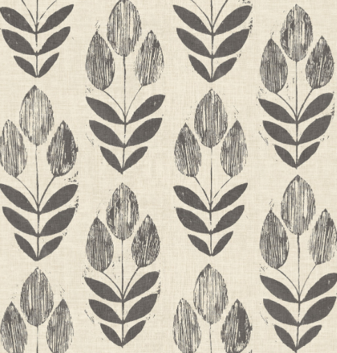 Block Print Scandinavian Wallpaper