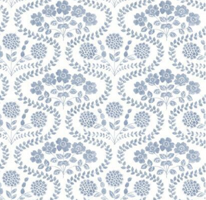 Folksy Floral Wallpaper