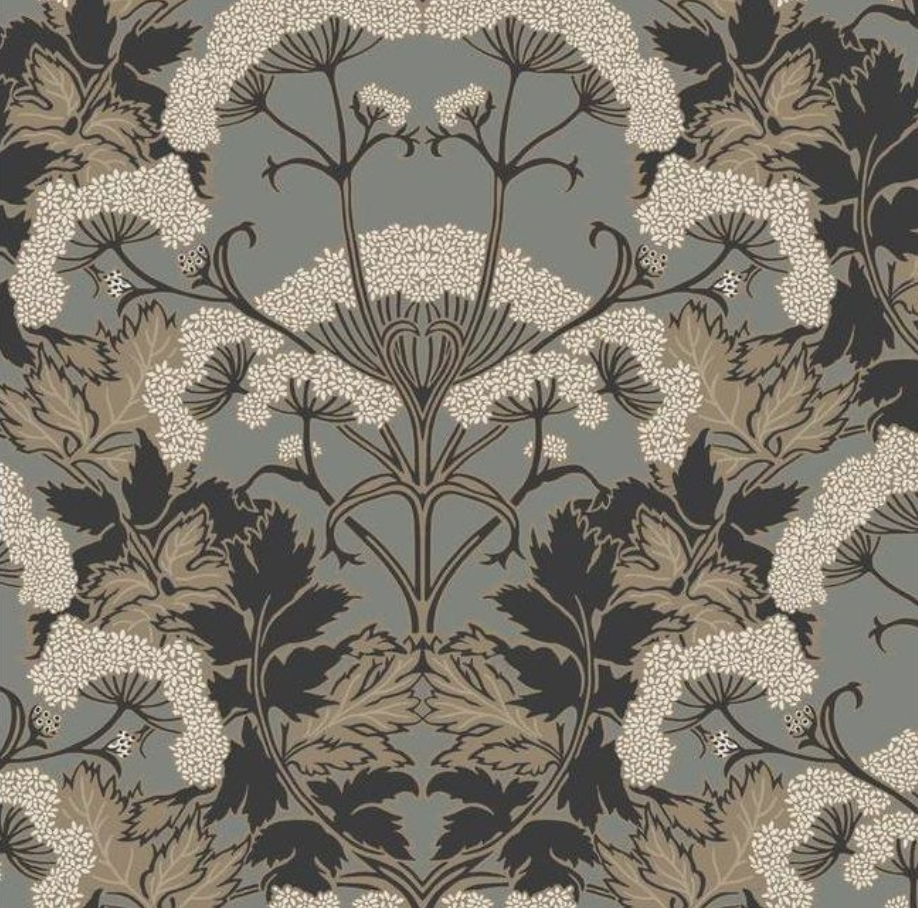 Yarrow Nouveau Wallpaper