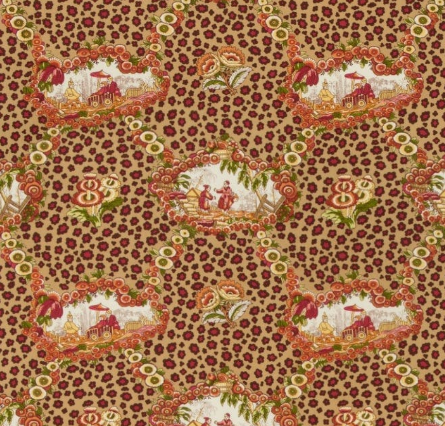Chinese Leopard Toile Fabric