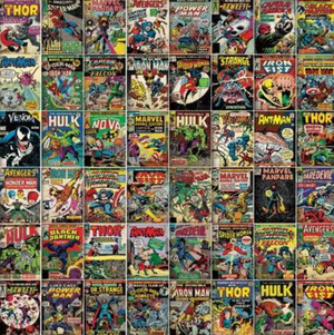 Marvel Comic Book Cover Mural