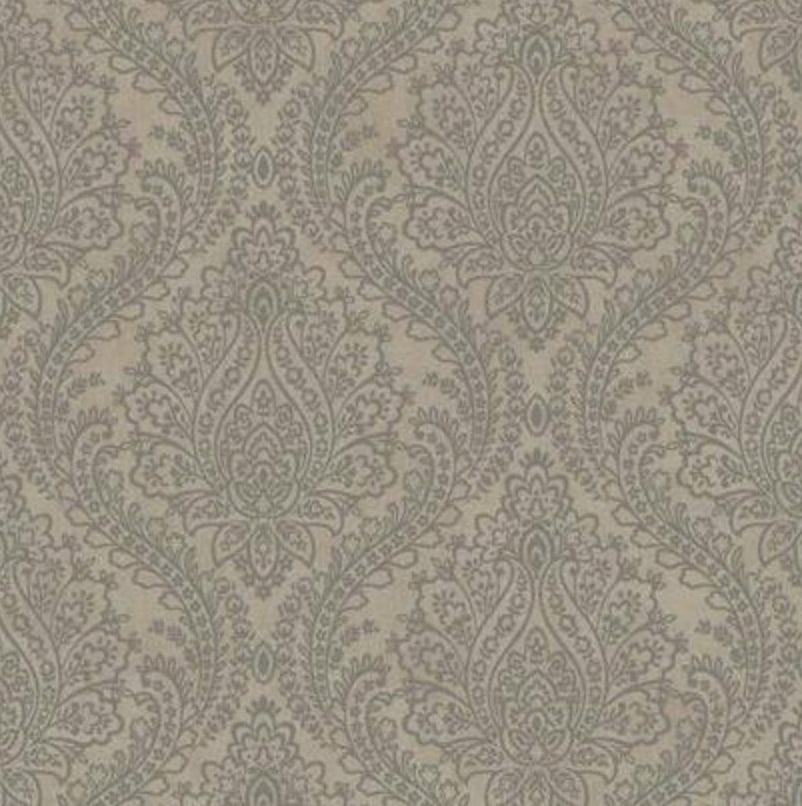 Tattersal Metallic Damask Wallpaper