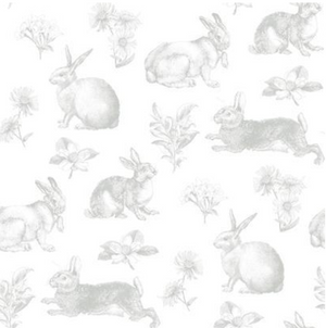 Bunny Toile Wallpaper
