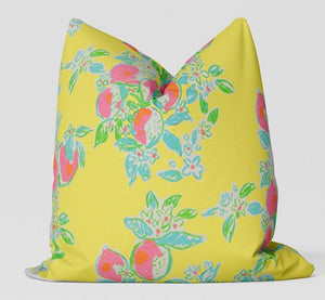 Lily P Pink Lemonade Pillow Cover