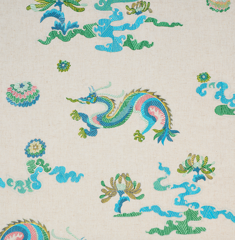 Hanlun Dragon Embroidered Fabric
