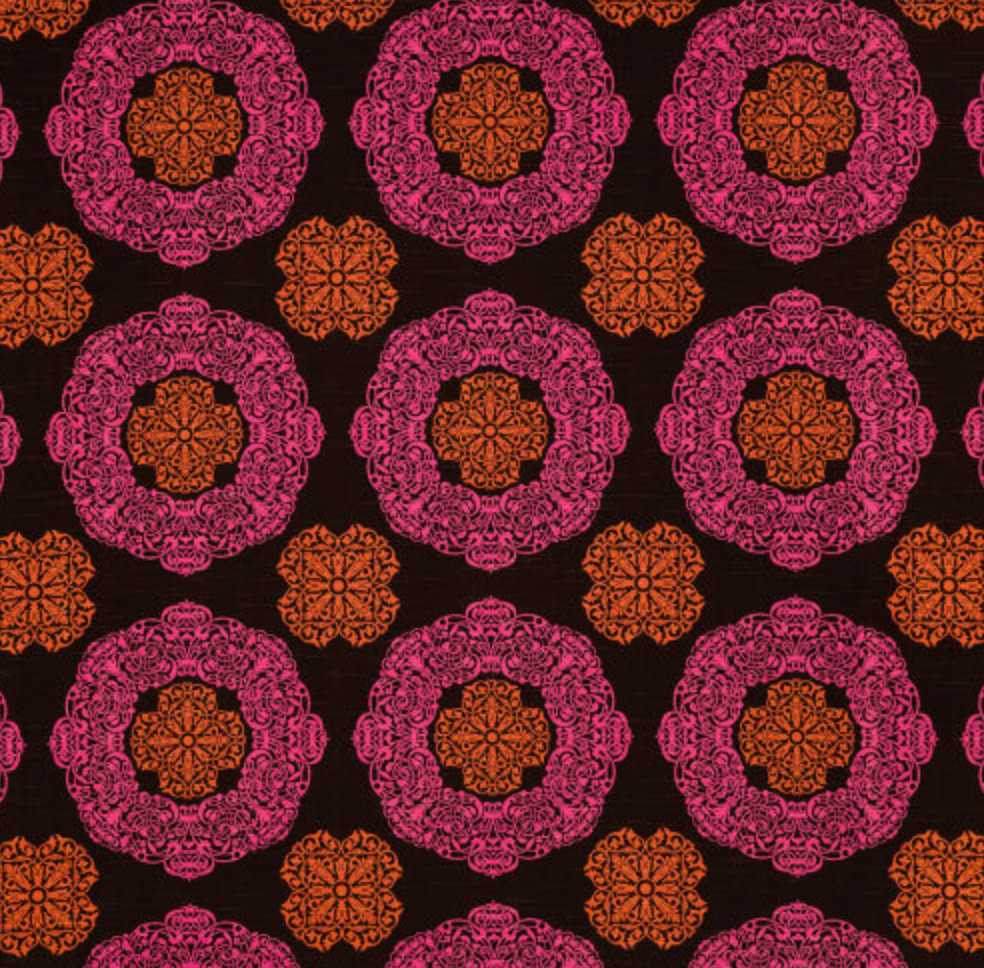 Suzani Pink/Brown Fabric