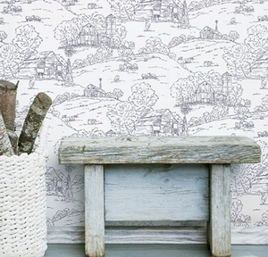Pasture Toile Wallpaper