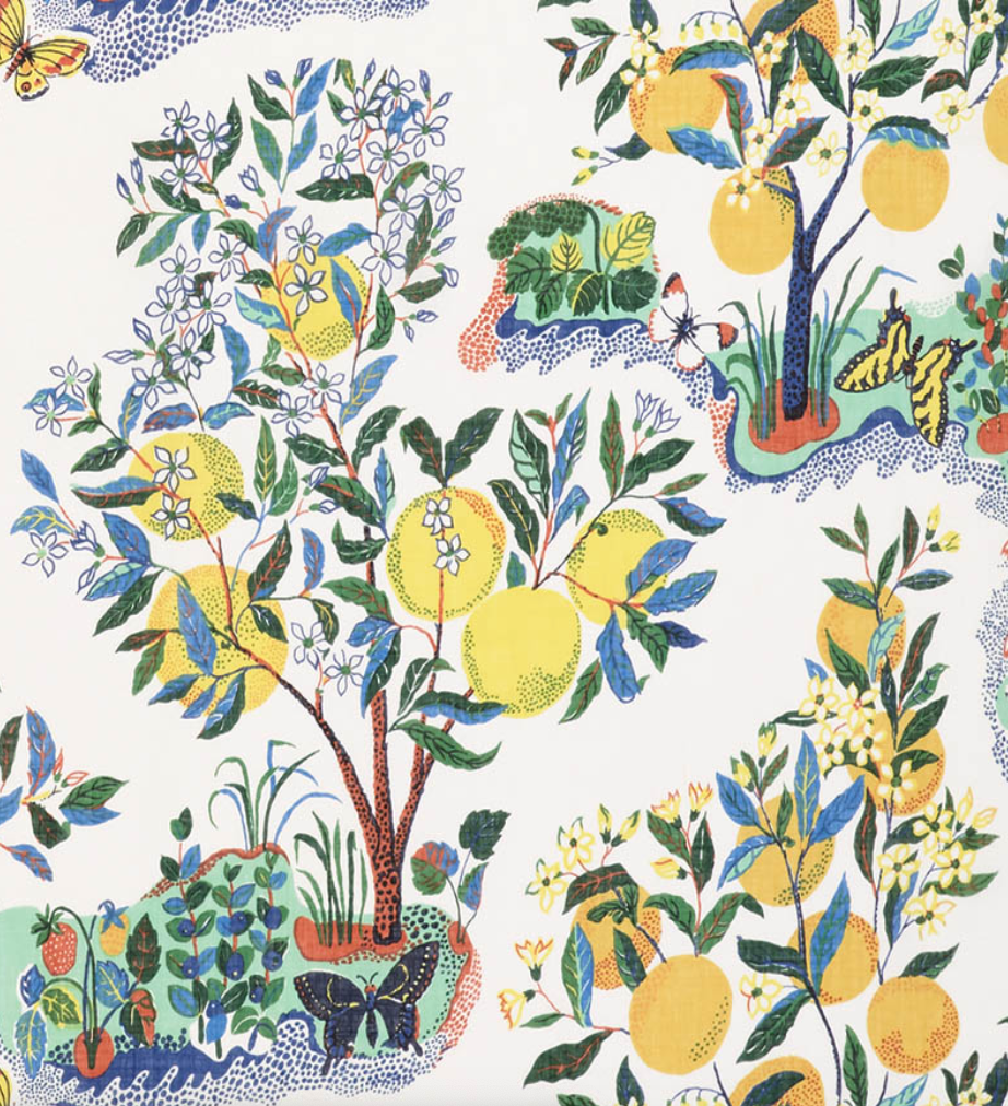 Citrus Garden Sheer Fabric
