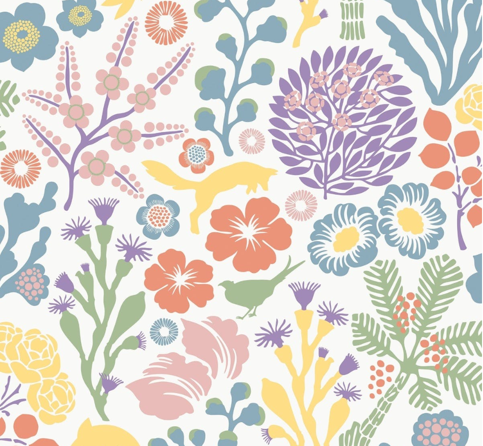 Nordic Floral Wallpaper Urban American Dry Goods Co