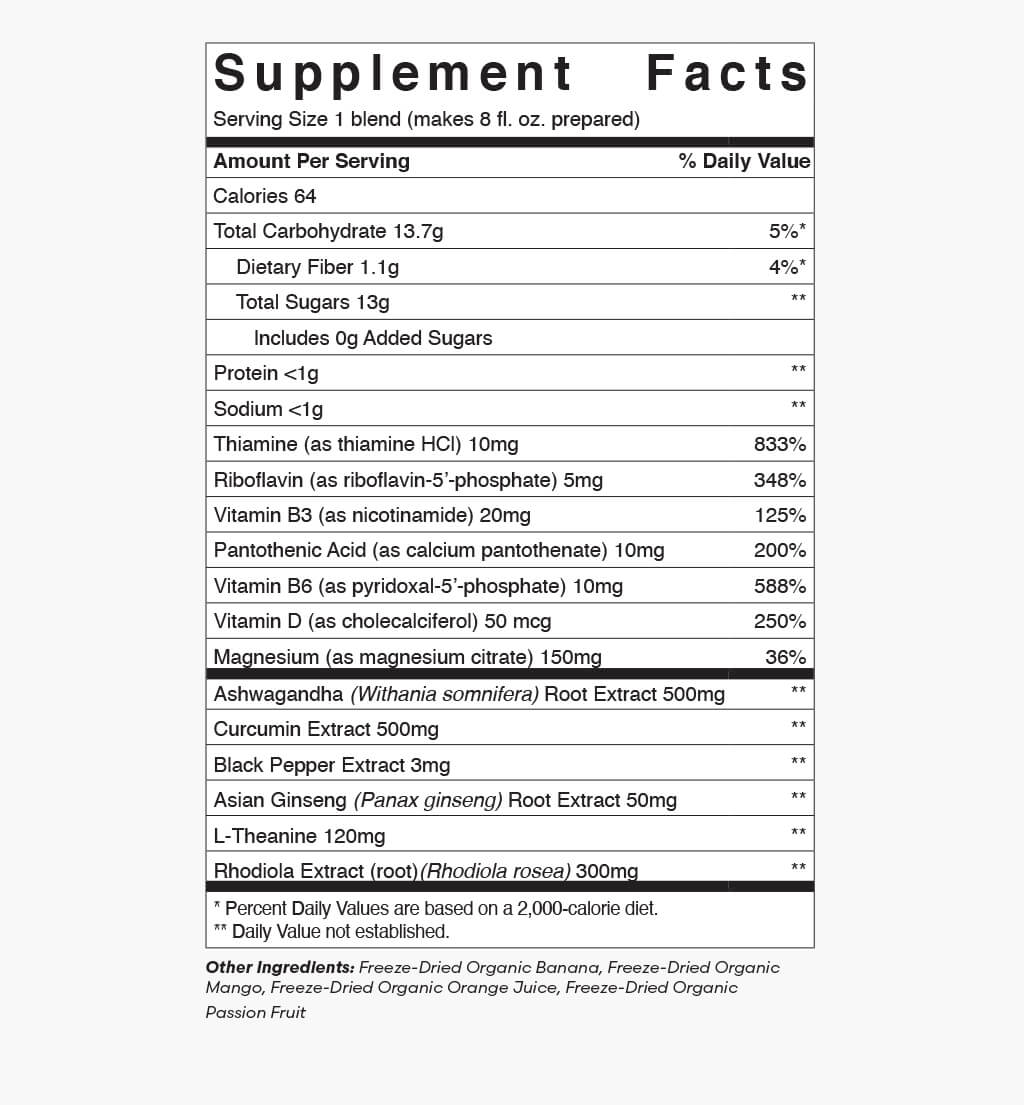 Supplement Facts: Mood Boost