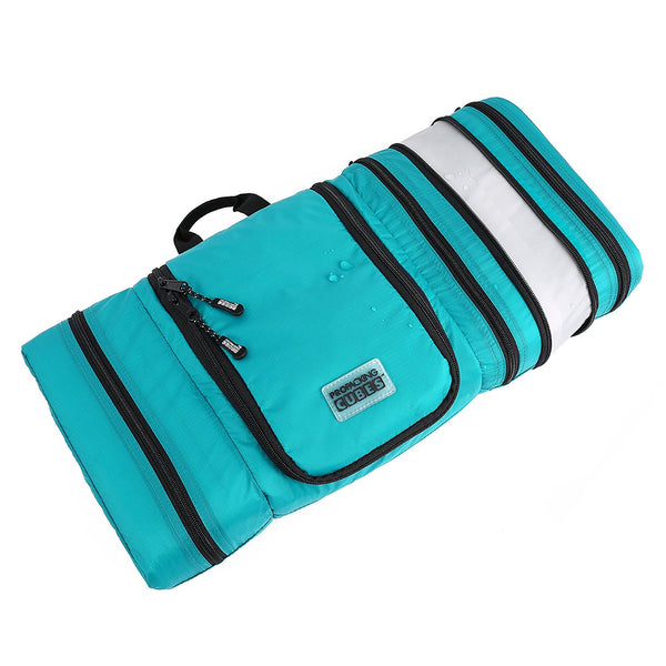 Travel Toiletry Bag <br> Packs Flat To Save Space. Waterproof Hanging Kit For Men and Women