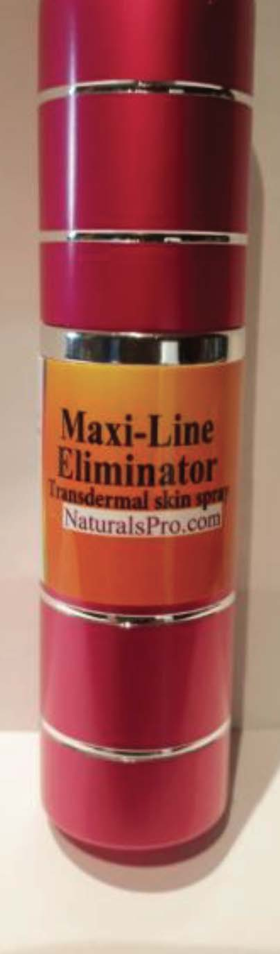 Maxi-Line Eliminator, an elixir of youth lotion that uniquely provides velvety smooth and wrinkle-free skin, available wholesale at $89.50