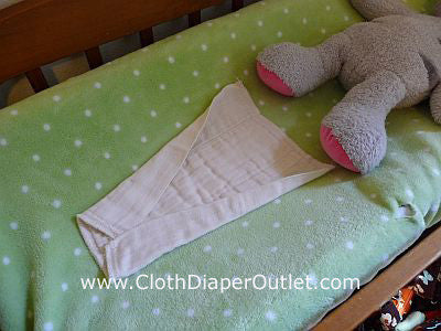 Angel Wing Cloth Diaper Folding