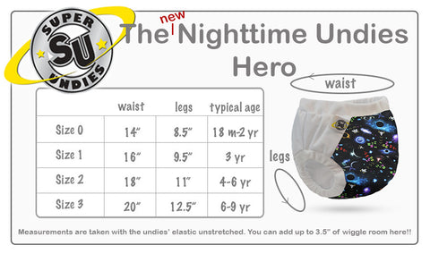 Super Undies Nighttime Hero Underwear - give a POW! to nighttime potty accidents