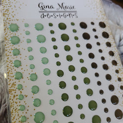 PINE BRANCH CLEAR WITH COLOR ENAMEL DOTS - GINA MARIE DESIGNS