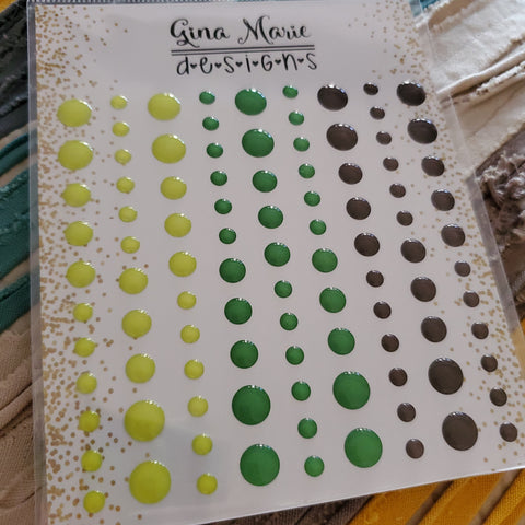 AVOCADO CLEAR ENAMEL DOTS - GINA MARIE DESIGNS