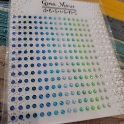 SEA FOAM RHINESTONES - GINA MARIE DESIGNS
