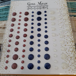 (BACK FROM RETIREMENT) PATRIOTIC SPARKLE ENAMELS - GINA MARIE DESIGNS