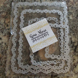 (Back from retirement) EYELET ELEGANCE RECTANGLE DIE SET - Gina Marie Designs