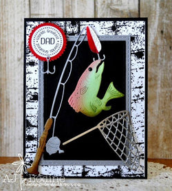 GONE FISHING DIES - Gina Marie Designs