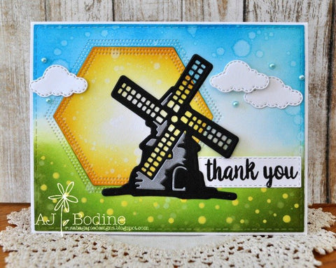 WINDMILL & SHADOW LAYER DIE SET - Gina Marie Designs