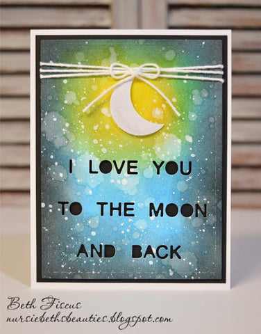 TO THE MOON DIE PLATE - Gina Marie Designs