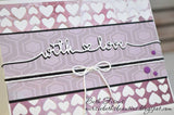 LONG SKINNY WORD DIES (just for you & with love) - Gina Marie Designs