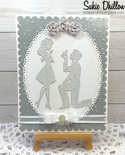ENGAGEMENT COUPLE DIE SET - Gina Marie Designs