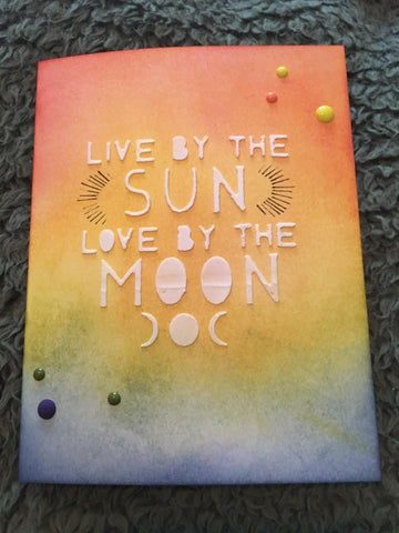 LIVE BY THE SUN LOVE BY THE MOON WORD PLATE DIE - Gina Marie Designs