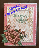 FLOURISH FRAME DIE SET - Gina Marie Designs