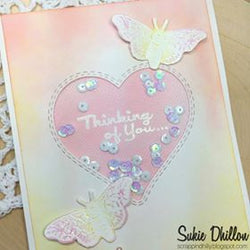Limited Edition - DOUBLE STITCHED IN AND OUT CUT HEART DIE SET - Gina Marie Designs