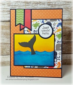 WHALE TAIL AND OCEAN WAVES Dies - Gina Marie Designs