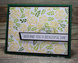 FLOWER SWIRLS & LEAVES STENCIL - Gina Marie Designs